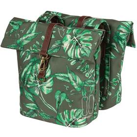 Basil Ever-Green Double Pannier Bag 28-38l, verde